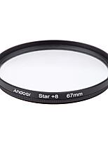 Andoer filtro de filtro de 67mm uv cpl star kit de filtro de 8 puntos con funda para Canon nikon sony dslr lente de la cámara