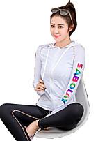 Femme La navigation de plaisance Résistant aux ultraviolets Elasthanne Térylène Tenue de plongée Manches LonguesTee-shirts anti-UV, tops