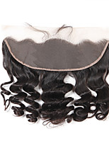 Brazilian Virgin Hair Loose Wave 13x4 Lace Frontal Closure 12-20 inch Free Part Bleached Knots Baby Hair
