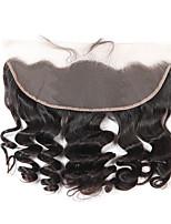 Pelo virginal del pelo virginal brasileño de la onda 13x4 del cordón de la parte libre 12-20 de la pulgada parte blanqueada pelo del bebé