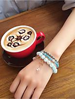 Femme Bracelets Rigides Cristal Naturel Mode Cristal Strass Alliage Forme de Cercle Forme d'Etoile Bijoux PourMariage Soirée Occasion