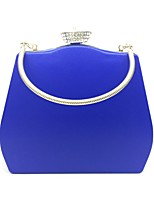 Women Evening Bag PU All Seasons Event/Party Minaudiere Push Lock Red Black White Gold Blue
