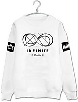 Men's Casual Sweatshirt Print Round Neck Inelastic Nylon Long Sleeve Fall