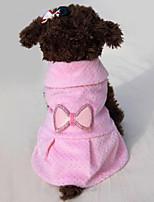 Собака Платья Одежда для собак На каждый день Бант Бежевый Розовый