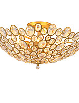 LightMyself 9 Lights Golden Modern Crystal Ceiling Lamp Indoors Lights for Living Room Bedroom Dining Room