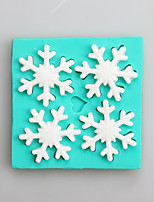 Snow Fondant Mold DIY Silicone Soap Candle Mold Handmade Soap Salt Carved DIY Silicone Food Grade Silicone Mold