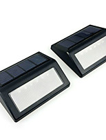 2pcs 6LED Solar Stair Light IP55 Warm Cool White LED Solar Lights Wall Lamp Waterproof Garden Light Outdoor Landscape Lawn Lamp