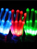 Acessórios do partido Luvas Luzes LEDOcasião Especial Halloween Aniversário Festa Festa/Noite Festa/Eventos Roupas para Lazer Festa de