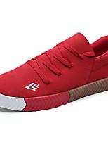 Men's Sneakers Comfort Spring Summer PU Casual Low Heel Black Gray Ruby Under 1in