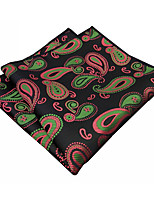 PH22 Business Men's Pocket Square Handkerchiefs Multicolor Black Floral 100% Silk Wedding Casual New Unique