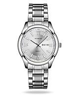 Men's Dress Watch Fashion Watch Quartz Calendar Water Resistant / Water Proof Noctilucent Alloy Band Silver