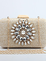 L.WEST Woman's fashionable sun diamond a handbag with a single shoulder a chain Dinner Bag