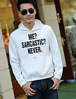 Men's Going out Hoodie Solid Letter Hooded Micro-elastic Polyester Long Sleeve Spring Fall
