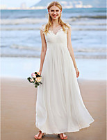 2017 LAN TING BRIDE A-line Wedding Dress - Beautiful Back Ankle Length Jewel Chiffon with Appliques Criss Cross Ruching