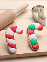 Christmas Candy Cane Cookies Cutter Stainless Steel Biscuit Cake Mold Metal Kitchen Fondant Baking Tools