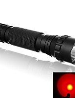 WF-501B 500 Lumens 1 Mode Red Light Lighting LED Flashlight Signal Lamp