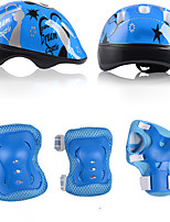 Kids' Protective Gear Knee Pads + Elbow Pads + Wrist Pads Skate Helmet for Ice Skating Skateboarding Hoverboard Shock Proof Scratch Proof