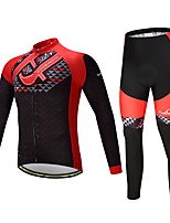 Cycling Jersey with Tights Unisex Long Sleeves Bike Clothing Suits Ventilation Quick Dry Spandex Polyester Silicon LYCRA® Autumn Spring