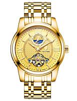 Per uomo Orologio alla moda Orologio da polso orologio meccanico Cinese Meccanico a carica manuale Acciaio inossidabile BandaNero Bianco