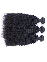 Tissages de cheveux humains Cheveux Brésiliens Très Frisé Plus d'Un An 3 tissages de cheveux