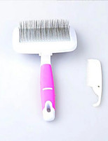 Cat Dog Grooming Health Care Brush Portable Protective Elastic Blushing Pink