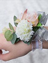 Wedding Flowers Wrist Corsages Wedding Polyester 3.94(Approx.10cm)