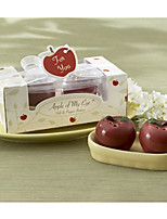 Practical Favors - 1Box/Set - mini Apple Salt and Pepper Shakers Set Party Favours