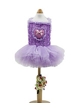 Dog Dress Dog Clothes Casual/Daily Hearts Ruby Purple