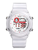 Kid's Sport Watch Digital Water Resistant / Water Proof Rubber Band White Green