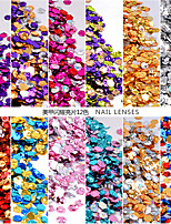 12box*1.5g Hexagon Nail Flakies Sequins Holo Shining Sparkle Nail Paillette 1mm