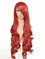 Long Curly Orange Heat Resistance Fiber Synthetic Hair Party Cosplay Full Synthetic Wigs