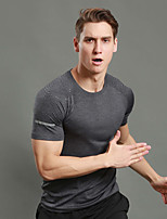 WOSAWE Herrn Laufshirt mit kurzer Laufhose Kurzarm Fitness, Laufen & Yoga Rasche Trocknung Atmungsaktiv Reflexstreiffen Sweatshirt für