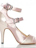 Women's Dance Sneakers PU Sandals Sneakers Outdoor Chunky Heel Almond Ruby 2