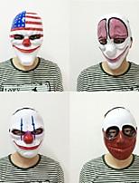 新しいファッション1pc pvc怖いピエロのマスクハロウィーンのマスクantifazパーティーマスカラカーニバルの派手なドレスの衣装
