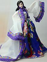 Vestidos e Saias Vestido Para Boneca Barbie Casaco Vestido Para Menina de Boneca de Brinquedo