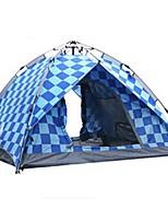 BSwolf 3-4 personnes Tente Double Tente de camping Tente automatique Etanche Résistant à la poussière Pliable 2000-3000 mm pour Camping /
