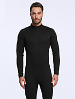 Men's Full Wetsuit Sports Terylene Diving Suit Long Sleeve Diving Suits-Diving & Snorkeling Spring/Fall Solid