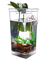 Transparent My Fun Fish Self Cleaning Tank Complete Aquarium Setup Gift Volume 1L Aquarium Setup Lovely Cute