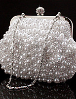 Women Evening Bag Special Material All Seasons Wedding Event/Party Formal Square Rhinestone Chain No Clasp Blushing Pink Black White