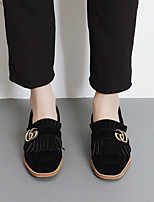 Women's Loafers & Slip-Ons Comfort PU Spring Casual Comfort Black Flat