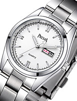 Women's Fashion Watch Quartz Calendar Alloy Band Silver