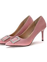 Women's Heels Slingback PU Spring Casual Slingback Blushing Pink Gray Black 1in-1 3/4in