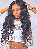 New & Hot ! Loose Wave 360 Lace Wig 150% Density Human Virgin Hair Black Color Wig with Baby Hair For Black Women