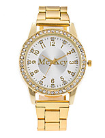XU Neutral Quartz Alloy Steel Belt Wrist Watch Diamonds Dress Watch