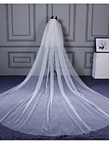 Wedding Veil Two-tier Elbow Veils Cathedral Veils Cut Edge Tulle