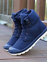 Men's Boots Comfort Canvas Summer Casual Comfort Camel Blue Ruby Gray Black Flat
