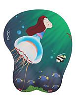 Exco msp038 12 * 25 * 1cm azul medusa 3d conforto suave antiderrapante pu material silicone mouse pad braçadeiras