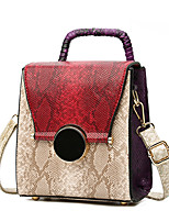 Women Tote PU All Seasons Event/Party Rectangle Snap Red Green Blue