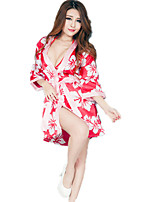 Women's Deep V Chest A Kimono Bathrobes Suits