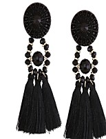 Women's Drop Earrings Jewelry Tassel Euramerican Oversized Silver Plated EVA Resin Alloy Geometric Jewelry ForGraduation Dailywear Daily